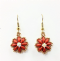Daisy SuperDuo Earrings Beadwork Kit with SWAROVSKI® Elements - Pink and Bronze